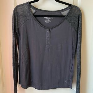 AE Long Sleeve with Shimmer Sleeves GUC Size S